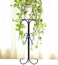 Eisen Blumentopf Regal Kreativ Pflanze Stand Blume Rack für Wohnzimmer Balkon Indoor ( farbe : Schwarz , größe : 90cm )