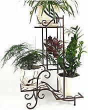 Eisen Blumentopf Regal Kreativ Pflanze Stand Blume Rack für Wohnzimmer Balkon Indoor ( farbe : Messing )