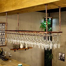 Eisen Hängendes Weinglasregal Im Europäischen