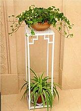 Eisen hoch Blume Stand grün Radix Orchidee mehrstöckig einfach Blume Regal Balkon Wohnzimmer Innenboden Blumentöpfe Multifunktion ( Farbe : Weiß , größe : 24*24*60cm )