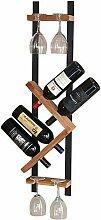 Eisen Holz Wandbehang Weinregal Einfache Becher