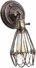 Eisen Industrielle Retro Wandleuchte,MOTENT Bronze