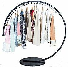 Eisen Kleiderbügel Kleiderbügel Kreative Kleiderbügel Europäischen Stil Kreativ Moderne Wohnzimmer Schlafzimmer Balkon Kleider Trockner Rack ( farbe : Schwarz , größe : 120*130cm )