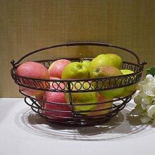 Eisen - Korb Metall Lagerung Korb Korb Obst Obst,Bronze