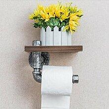 Eisen/Kunst/Wasser Pipe/Grill/Holz/waren/Flowerpotterrakotta/klatschenboard/WC/einfach/Gewebe Rack/Bad/Rack/retro/Wand/Rack/Sanitär/Regale/Holz/WC Papier Rack, D