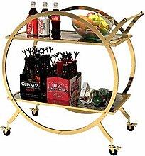 Eisen Kunst Weinregal mit Rädern Kicthen Bar