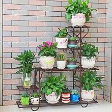 Eisen Mehrschichtige Blume Rack/Balkon Pflanze