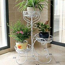 Eisen mehrstöckige Blumenregal / Balkon Wohnzimmer Innenboden Blumentopf Rack / Chlorophytum grün Rettich Regal ( größe : 52cm )