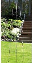 Eisen-Obelisk Spirale 160 cm anthrazi