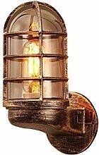 Eisen Wandleuchte Glas Lampenschirm Wasserdichte