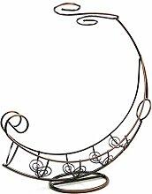 Eisen Weinregal Mond Boot Form umgedreht