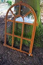 Eisenfenster als Antik-Fenster für Gartenmauer m