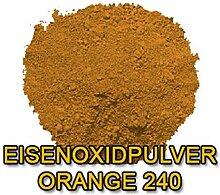 Eisenoxid Pulver Pigmentpulver Farbpigmente für Beton Lehm Keramik | Betonfarbe Bodenfarbe färben abtönen Abtönung - Orange 25KG (5x5kg)