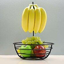 Eisenregal Obstkorb Schale mit abnehmbarem