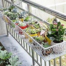 Eisenstangen Blume Balkon Suspension Shelf, 60