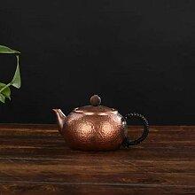 Eiserne Teekanne Manuelle rote Kupfer Teekanne