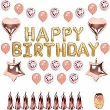 EisEyen Fransen Rosegold Deko Happy Birthday