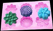 Eisform Silikon 1 Pc 6 Löcher Blumen Silikon