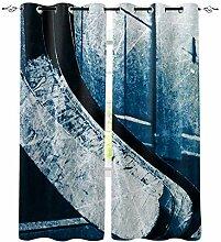 Eishockey Fenster Vorhänge für Wohnzimmer