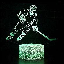 Eishockey Thema 3D Lampe LED Nachtlicht 7
