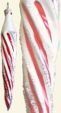 Eiszapfen 12 cm (Eislack weiß-rot)