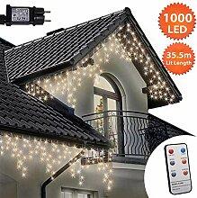 Eiszapfen Lichterketten 1000 LED lichterkette