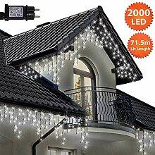 Eiszapfen Lichterketten 2000 LED lichterkette