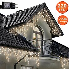 Eiszapfen Lichterketten 220 LED lichterkette