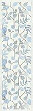 Ekelund Tischläufer blau mit Vögeln 35 x 120