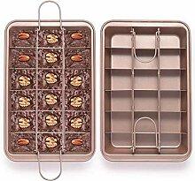 EKKONG Brownie Backform, kuchenform Brownie mit