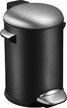 EKO Belle Deluxe Tritt-Mülleimer 3 L, Metall,