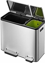 EKO Ecocasa Mülltrennsystem, Edelstahl, rostfrei,