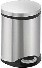 EKO Shell Bin Tritt-Mülleimer, 6 Liter, Edelstahl