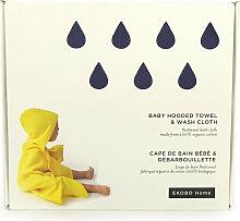 Ekobo Baby Handtuch mit Kapuze und Waschlappen Set