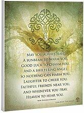 Elanze Designs Wandtafel mit irischem Gebet, 20,3