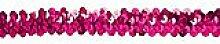 Elastik-Paillettenband, pink, Breite: 20 mm, Länge: 3 m