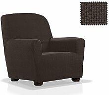 Elastische Sessel-Husse Portitxol Größe 1 Sitzer (Von 70 bis 110 cm), Farbe Schwarz (Mehrere Farben verfügbar)