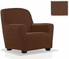 Elastische Sessel-Husse Portitxol Größe 1 Sitzer (Von 70 bis 110 cm), Farbe Braun (Mehrere Farben verfügbar)