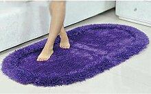 Elastischer Seide ovaler Teppich, Wohnzimmer, Schlafzimmer Teppich, Couchtisch Teppich, Bett Sofa Bajonett Teppich , #2 , 80*160cm
