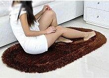 Elastischer Seide ovaler Teppich, Wohnzimmer, Schlafzimmer Teppich, Couchtisch Teppich, Bett Sofa Bajonett Teppich , #10 , 80*160cm