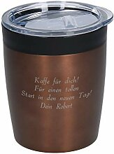 elasto Coffee to Go Edelstahl Becher