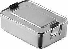 """elasto Robuste Brotdose Lunchbox """"Aluminium"""""""