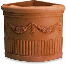 ELBI Corner Resin vase with Double Festoon cm. 49
