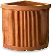 ELBI Corner Resin Vase with Lines Texture cm. 44