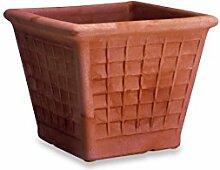 ELBI Resin Vase with Panels cm. 45 Antracite -