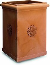 ELBI Tall Resin vase with Rosette 50 cm. Tortora -