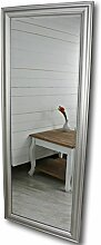 elbmöbel 150 x 60cm Wandspiegel groß in Silber