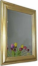 elbmöbel 62 x 52cm Wandspiegel rechteckig in gold