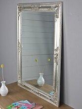 elbmöbel 82x62cm Spiegel silber antik Holz Wandspiegel barock Badspiegel Standspiegel