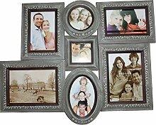 elbmöbel Bilderrahmen Collage braun antik aus
